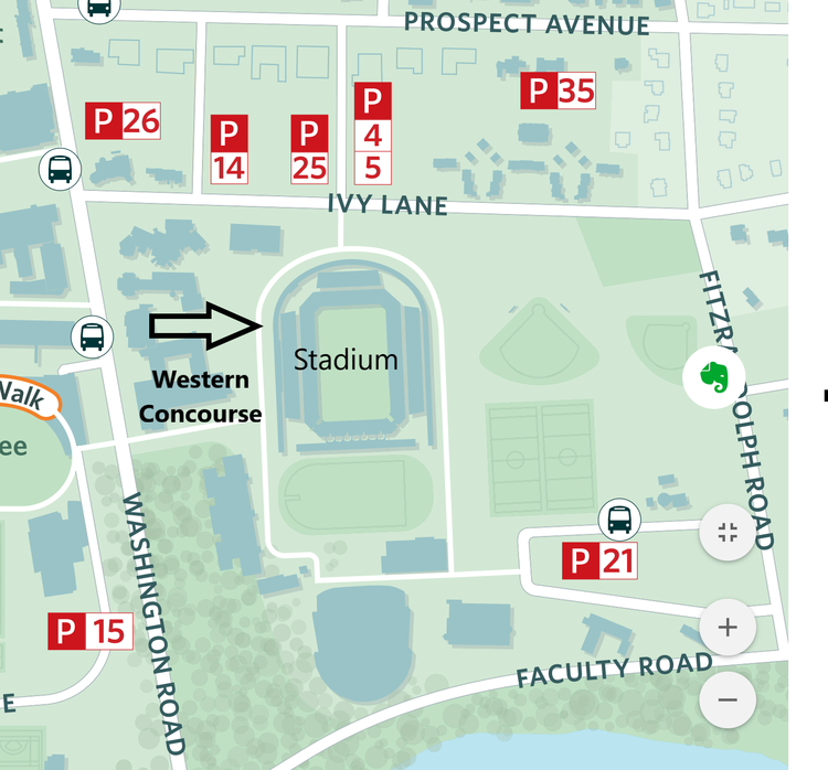 Stadium Western Concourse Map